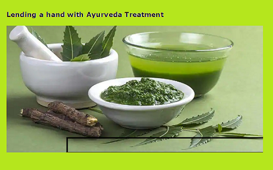 Lending a hand with Ayurveda Treatment